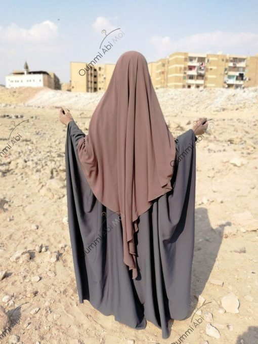 Abaya Bint.a by Oummi Abi Moi Gris dos profil