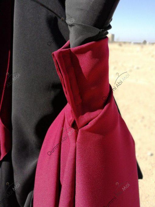 Abaya Bint.a by Oummi Abi Moi Pourpre Manches