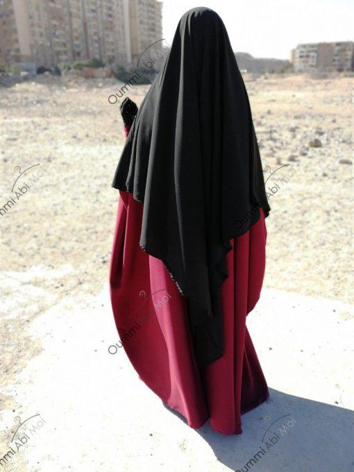 Abaya Bint.a by Oummi Abi Moi Pourpre dos profil