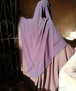 Abaya Bint.a by Oummi Abi Moi Taupe rosé Whool Peach dos