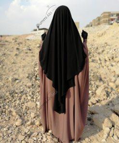 Abaya Bint.a by Oummi Abi Moi Taupe rosé dos