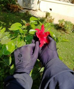 Gants Tactiles Fleurs Bleu Marine