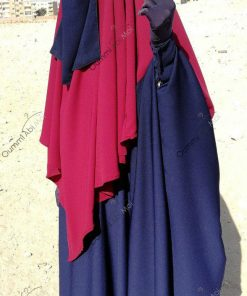 Half niqab bleu