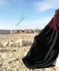 Niqab 1m Pourpre Devant