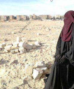 Niqab 1m Pourpre Profil