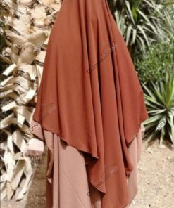Abaya Bint.A Whool Peach Camnelle Dos