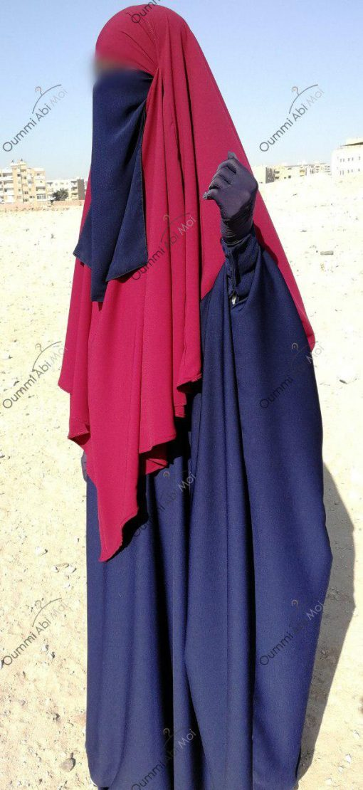 Abaya Bint.a by Oummi Abi Moi Bleu Cobalt profil