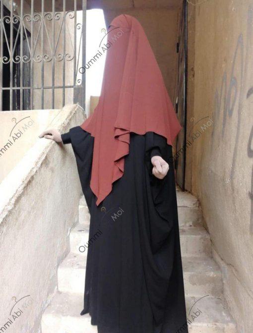 Abaya Bint.A Whool Peach Noir Face