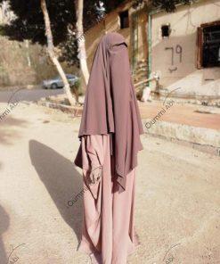 Abaya Bint.A Whool Peach Vieux Rose Face