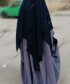 Abaya Saoudienne Bint.a Whool Peach Gris Mauve