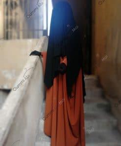 Abaya Saoudienne Bint.a Whool Peach Miel Intense T0 T1 T3