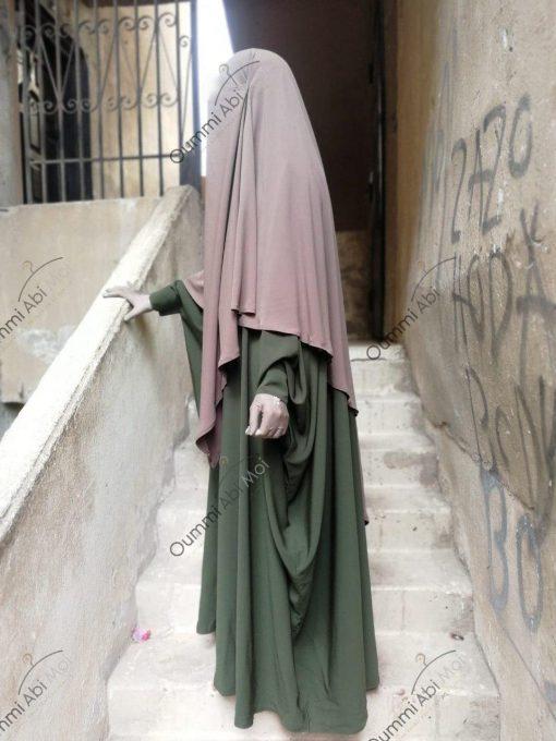 Abaya Bint.A Whool Peach Kaki Profil