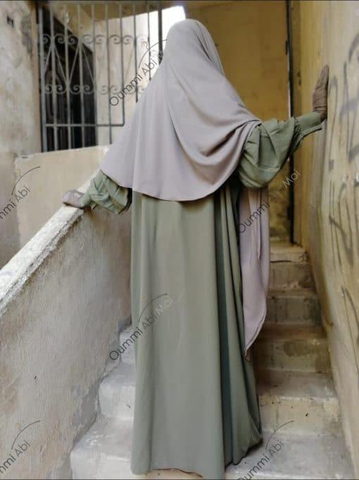 Abaya Manches Bint.a Whool Peach Olive