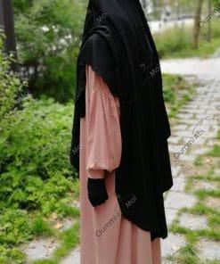 Abaya Manches Bint.a Whool Peach Vieux Rose