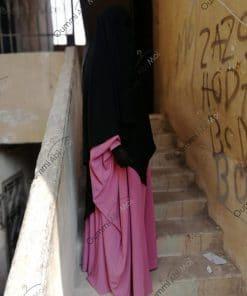 Abaya Saoudienne Bint.a Whool Peach Rose Profil