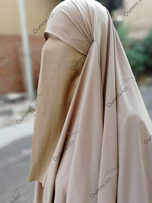 Half Niqab Beige