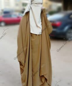 Jilbab 2 Pièces Bint.a Whool Peach Camel