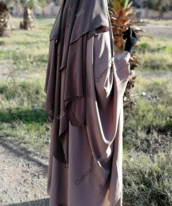 Jilbab 2 Pièces Bint.a Whool Peach Nude Profil