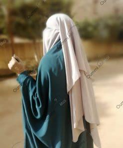 Jilbab 2 Pièces Bint.a Whool Peach Vert Emeraude Dos