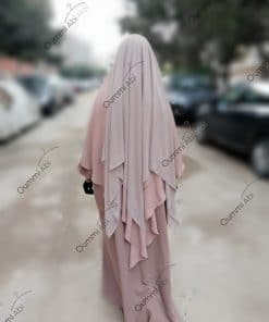 Khimar 3Voiles Bint.a Rose Nude
