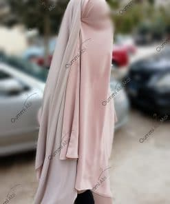 Khimar 3Voiles Bint.a Rose Nude Profil