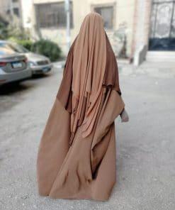 Khimar 3Voiles Camel Dos