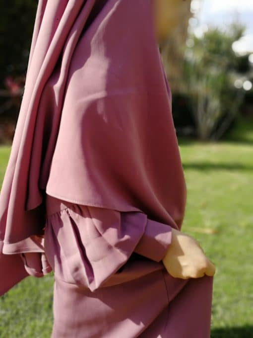 Abaya Mini Bint.a Rose Cendré