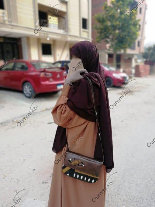 Abaya Manches Bint.a Whool Peach Camel